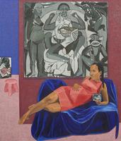Mequitta Ahuja, Xpect, Oil on Canvas, 84_X72_ 2018.jpeg
